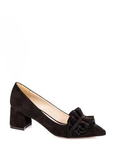 Elle - Kalın Topuklu Süet Ayakkabı